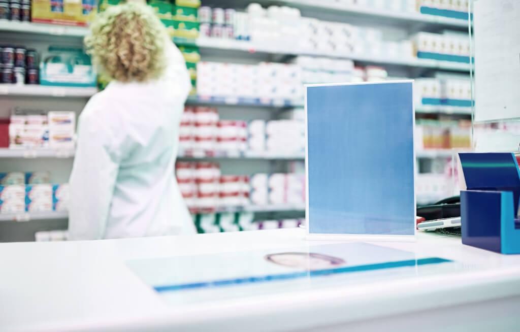 merchandising pharmacie plv présentoir de comptoir