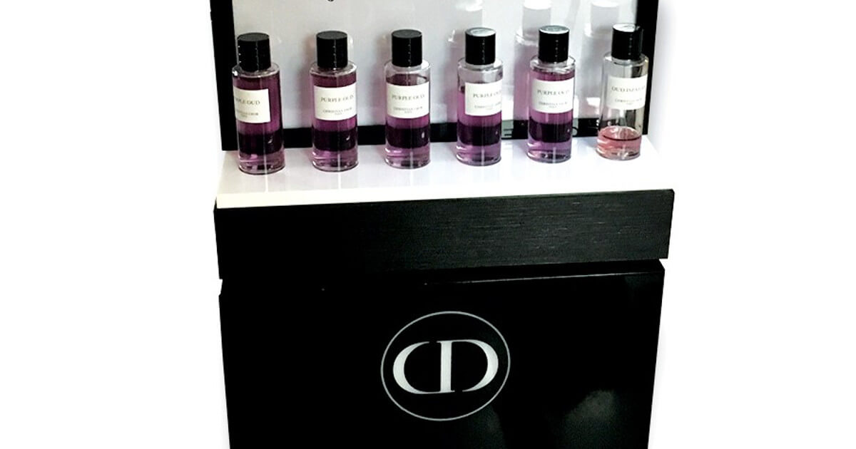 PLV Dior, PLV Luxe Parfum merchandising de séduction
