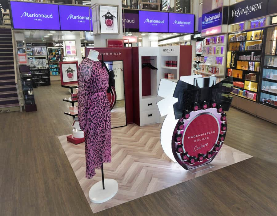 Merchandising de séduction : PLV parfums