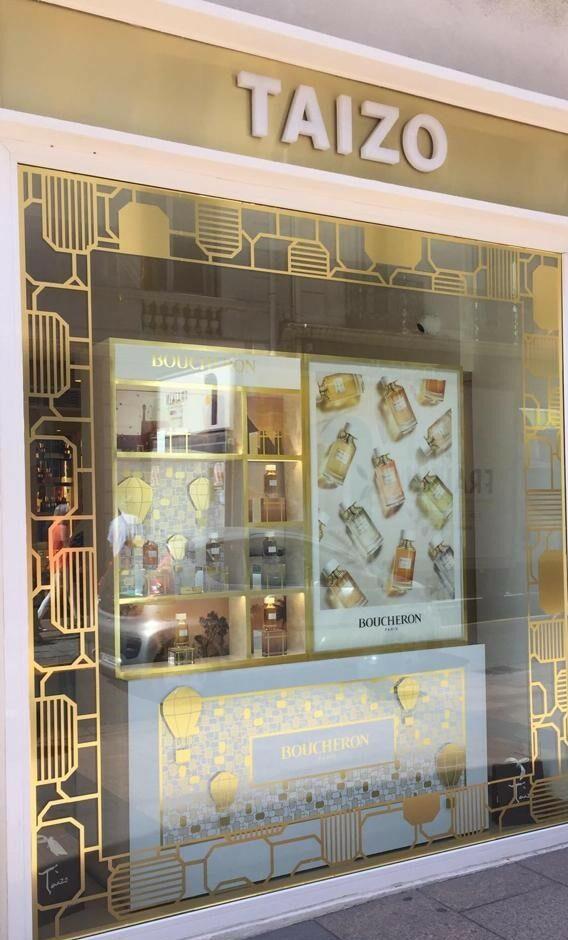 Vitrine Boucheron, parfumerie Taizo