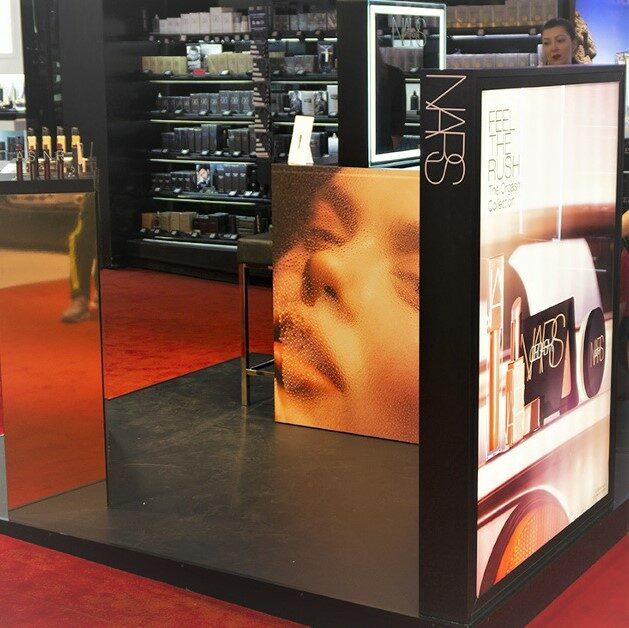 Nars : PLV cosmétique – Animation magasin, trade marketing