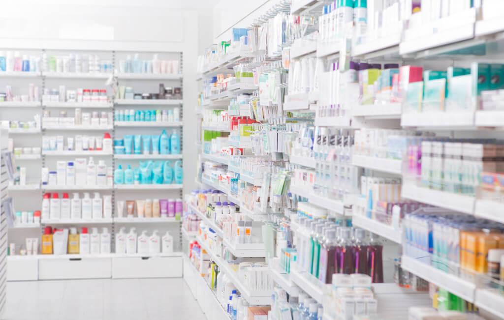 plv pharmacie habillage de linéaire