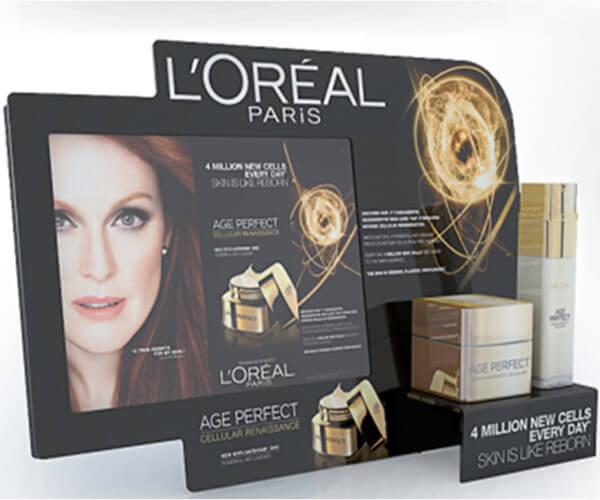 PLV de comptoir cosmétique L'Oréal