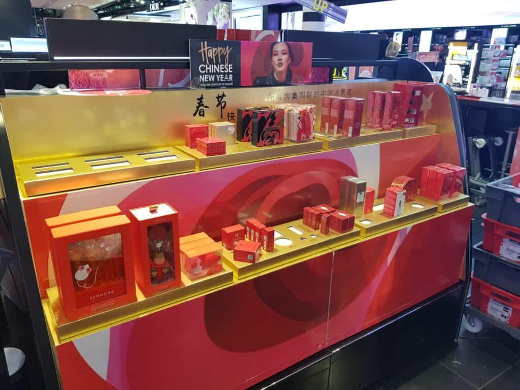 PLV cosmétiques et parfums chez Séphora